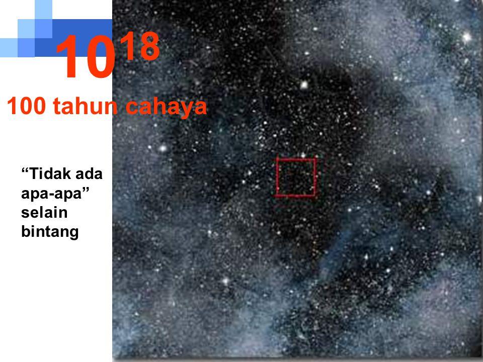 1018 100 tahun cahaya Tidak ada apa-apa selain bintang