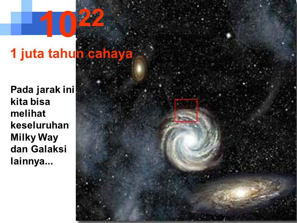 1022 1 juta tahun cahaya.