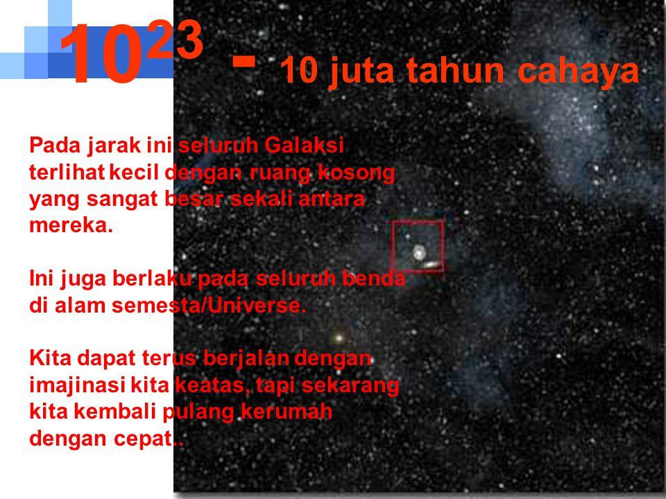 1023 - 10 juta tahun cahaya