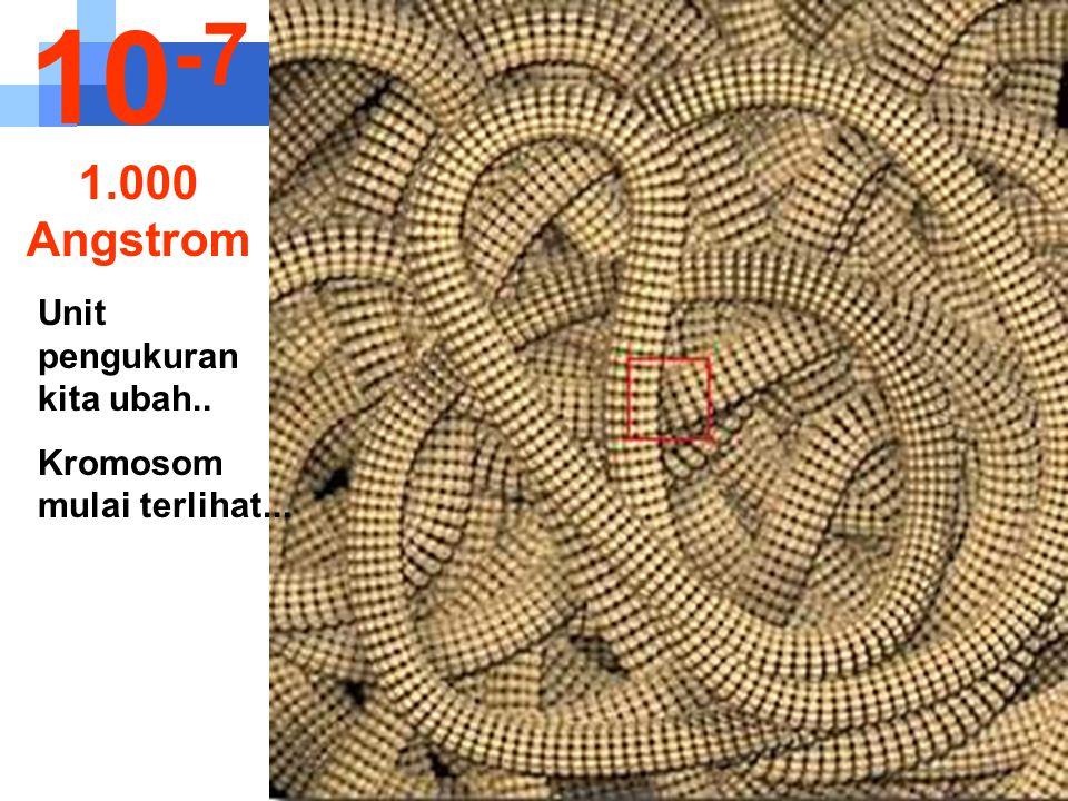 10-7 1.000 Angstrom Unit pengukuran kita ubah..