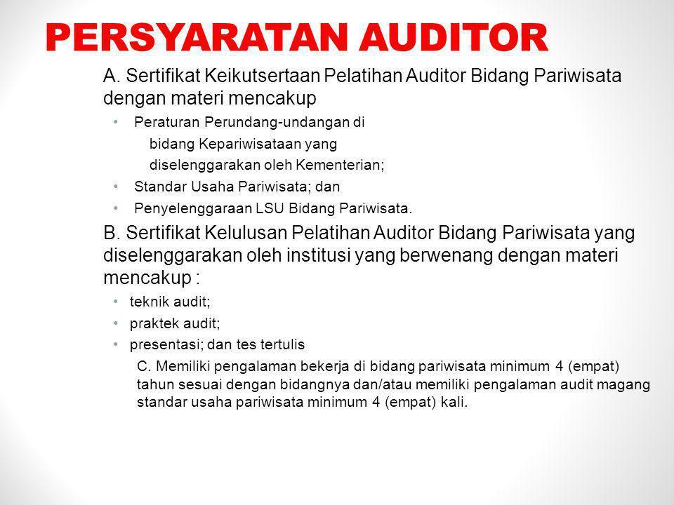 LINGKUP SERTIFIKASI persyaratan umum audit dan sertifikasi awal