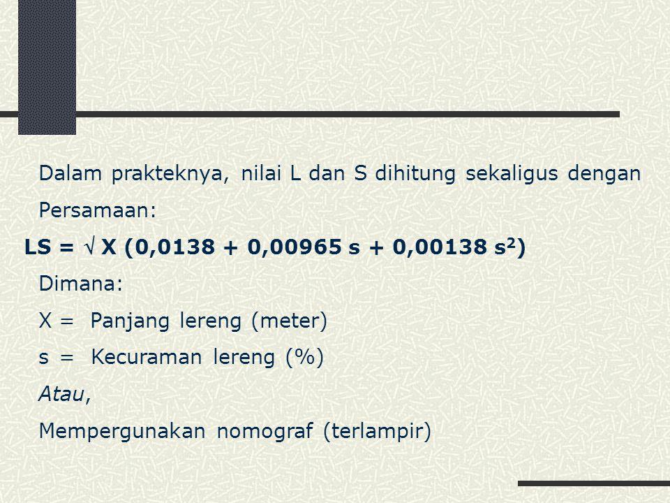 Dalam prakteknya, nilai L dan S dihitung sekaligus dengan