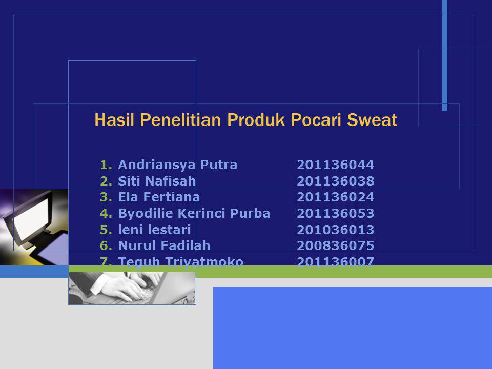 Hasil Penelitian Produk Pocari Sweat