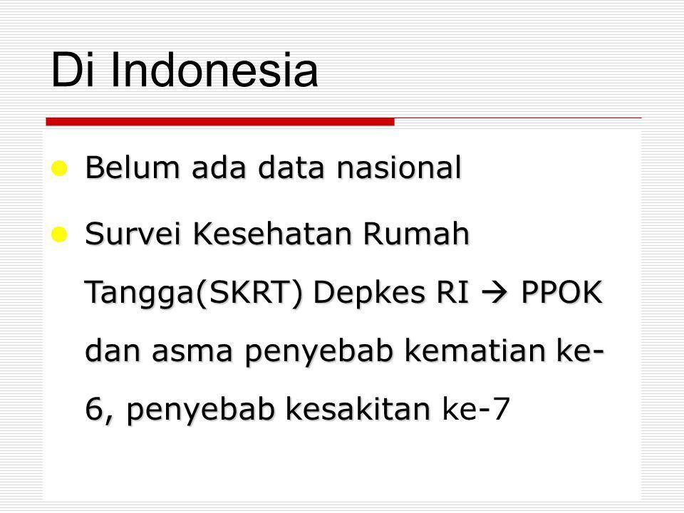 Di Indonesia Belum ada data nasional