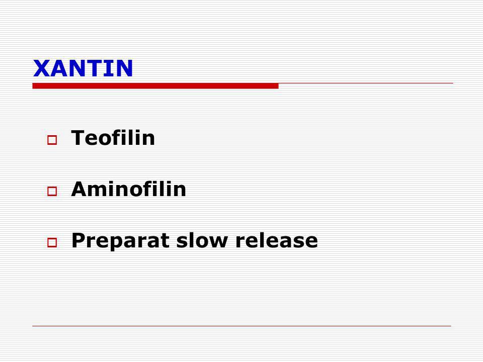 XANTIN Teofilin Aminofilin Preparat slow release