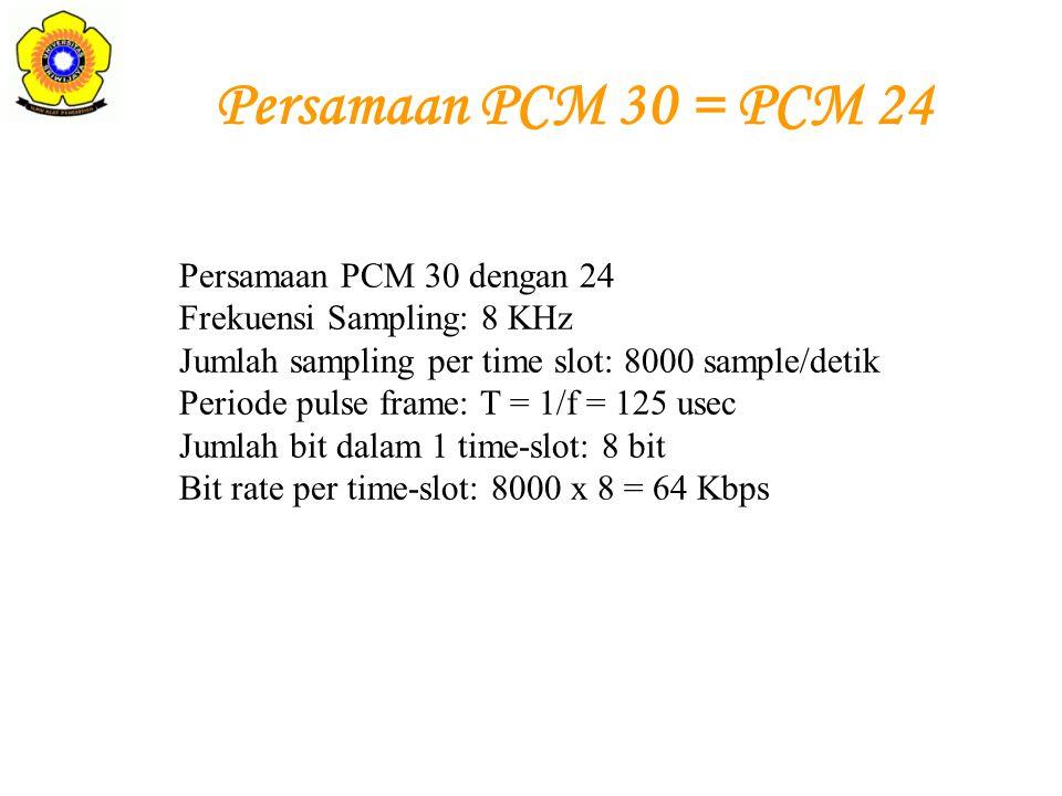 Persamaan PCM 30 = PCM 24