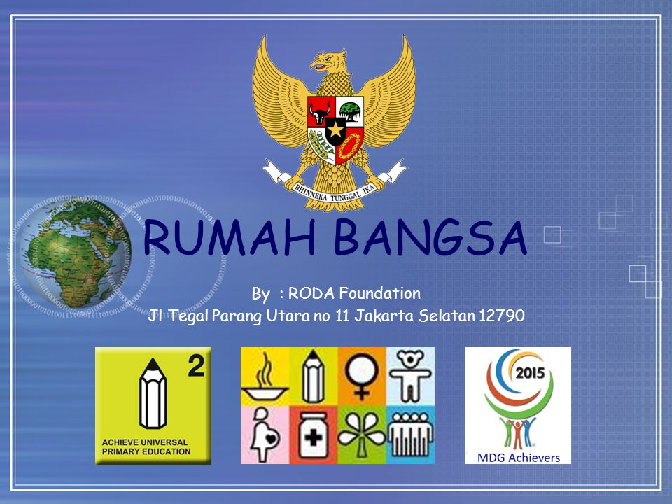 By : RODA Foundation Jl Tegal Parang Utara no 11 Jakarta Selatan 12790