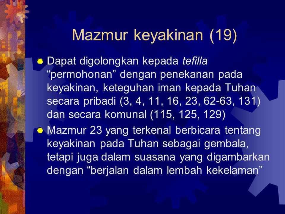 Mazmur keyakinan (19)