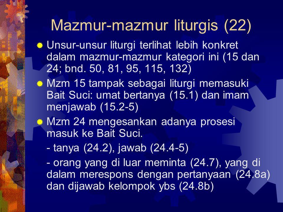 Mazmur-mazmur liturgis (22)