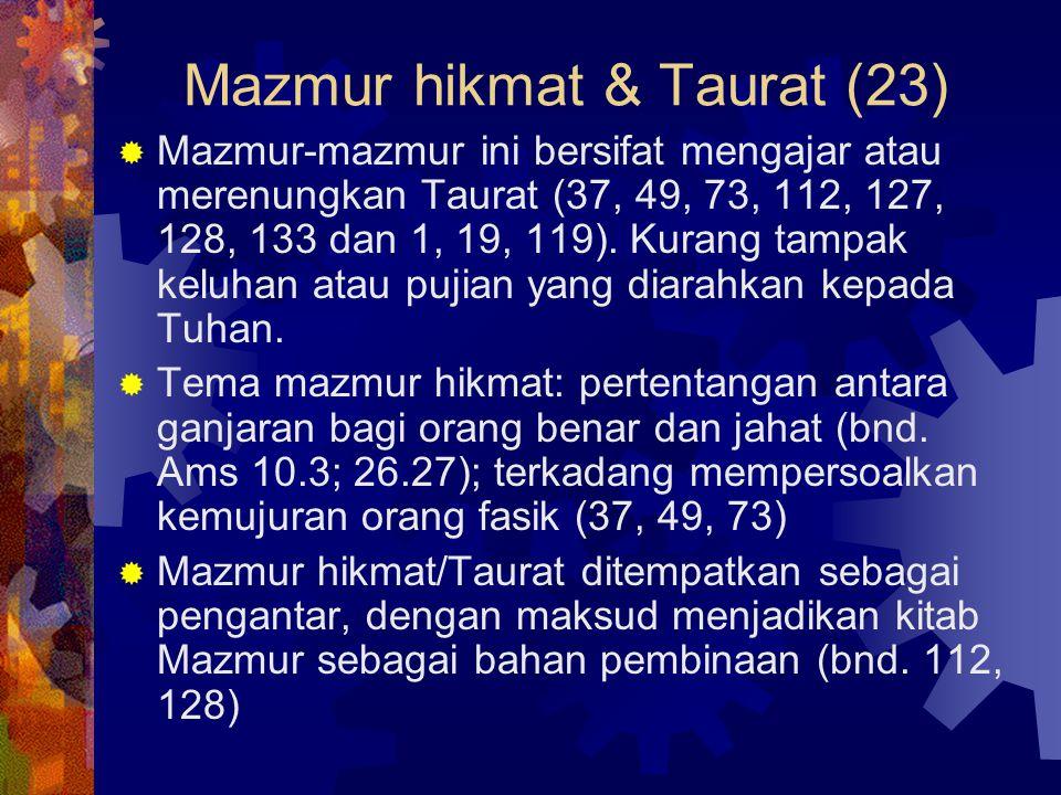 Mazmur hikmat & Taurat (23)