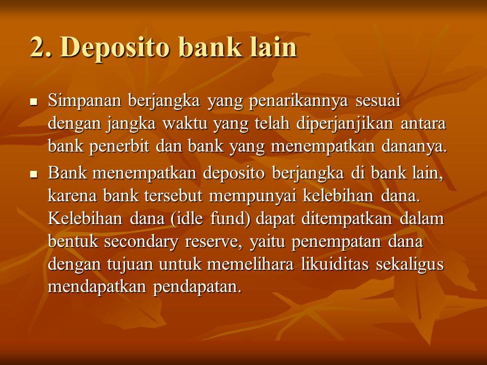 2. Deposito bank lain