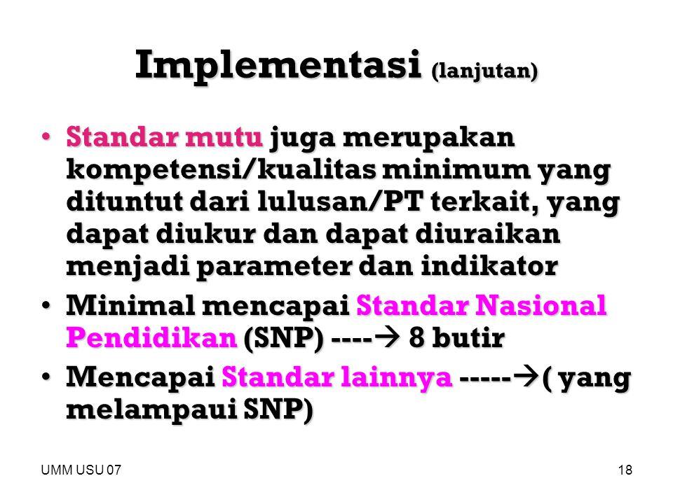 Implementasi (lanjutan)