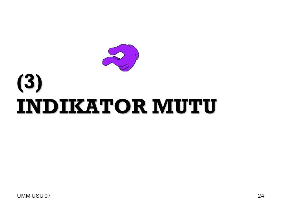 (3) INDIKATOR MUTU UMM USU 07