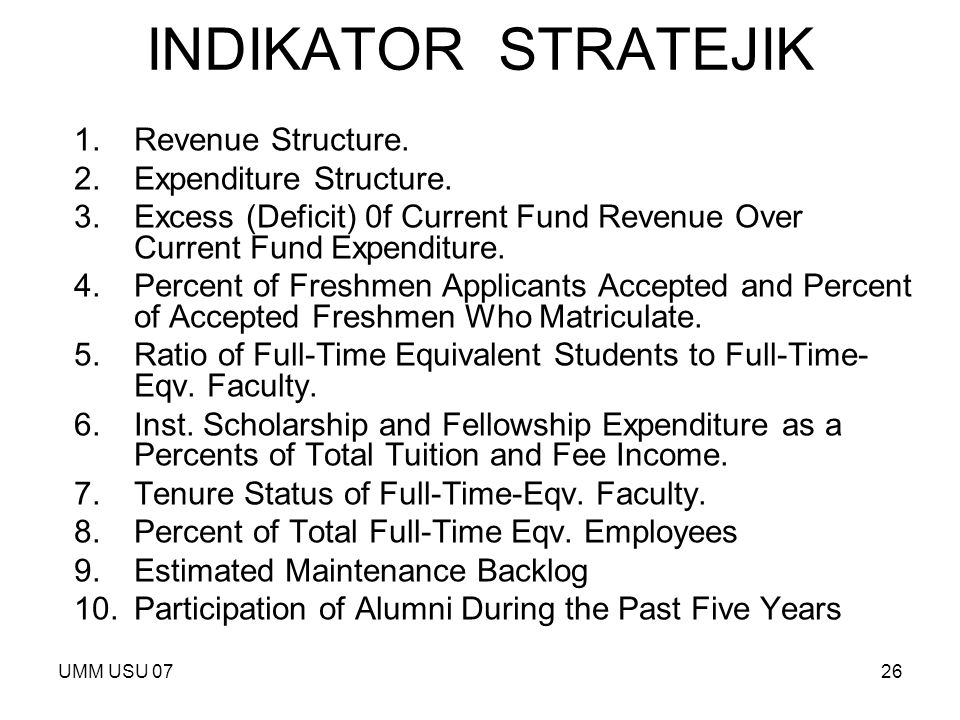 INDIKATOR STRATEJIK Revenue Structure. Expenditure Structure.