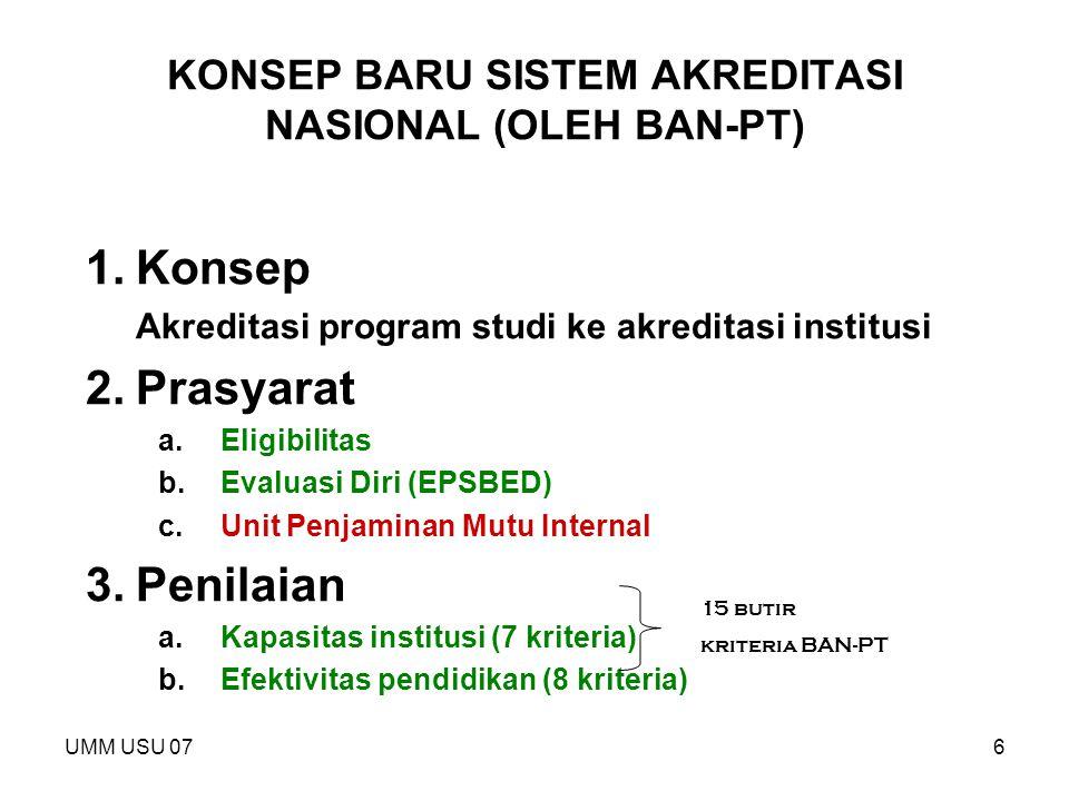 KONSEP BARU SISTEM AKREDITASI NASIONAL (OLEH BAN-PT)