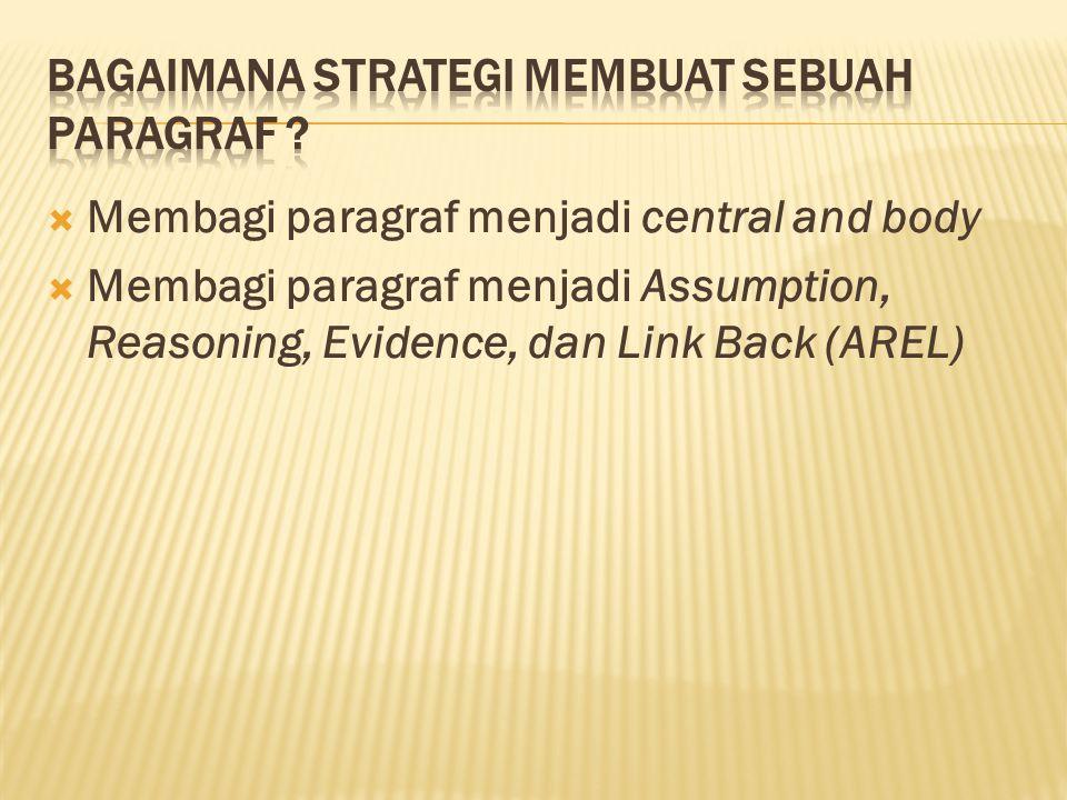 Bagaimana strategi membuat sebuah paragraf