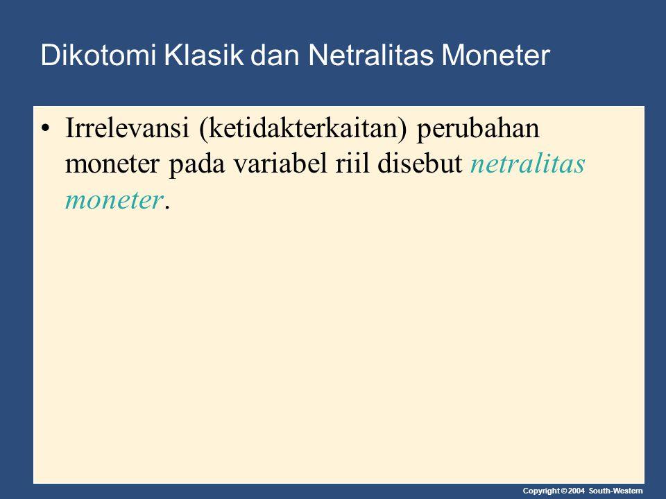 Dikotomi Klasik dan Netralitas Moneter