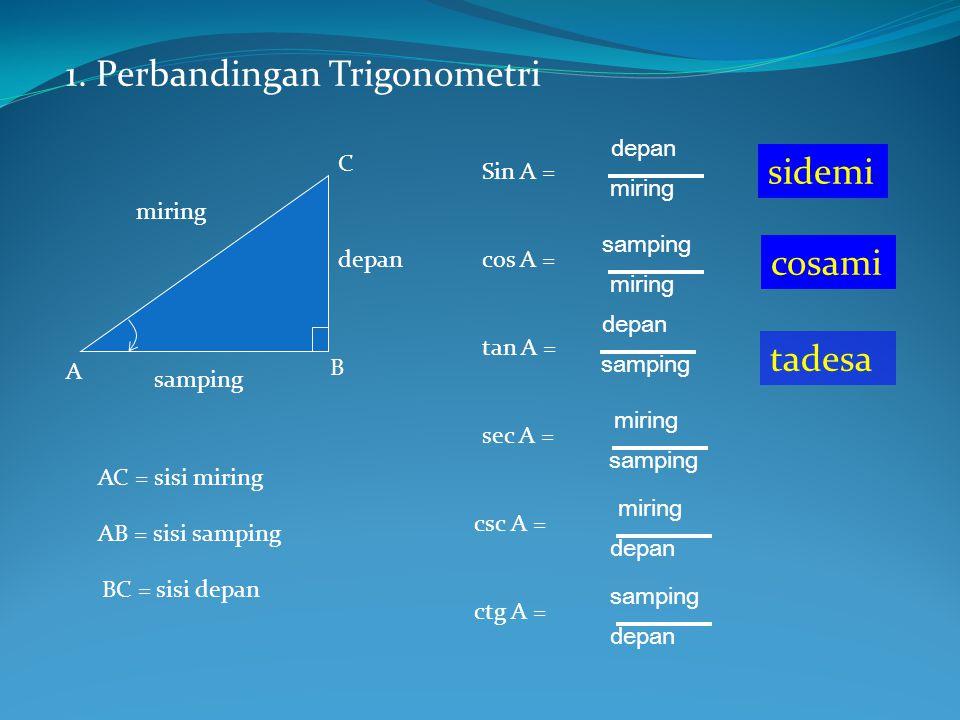 1. Perbandingan Trigonometri