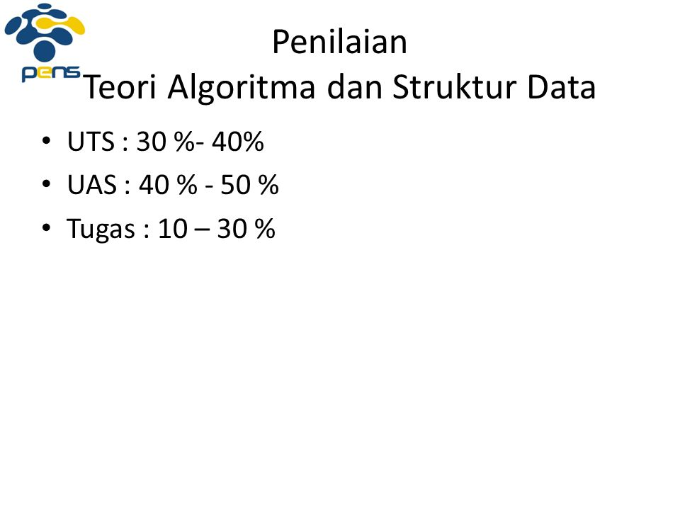 Penilaian Teori Algoritma dan Struktur Data