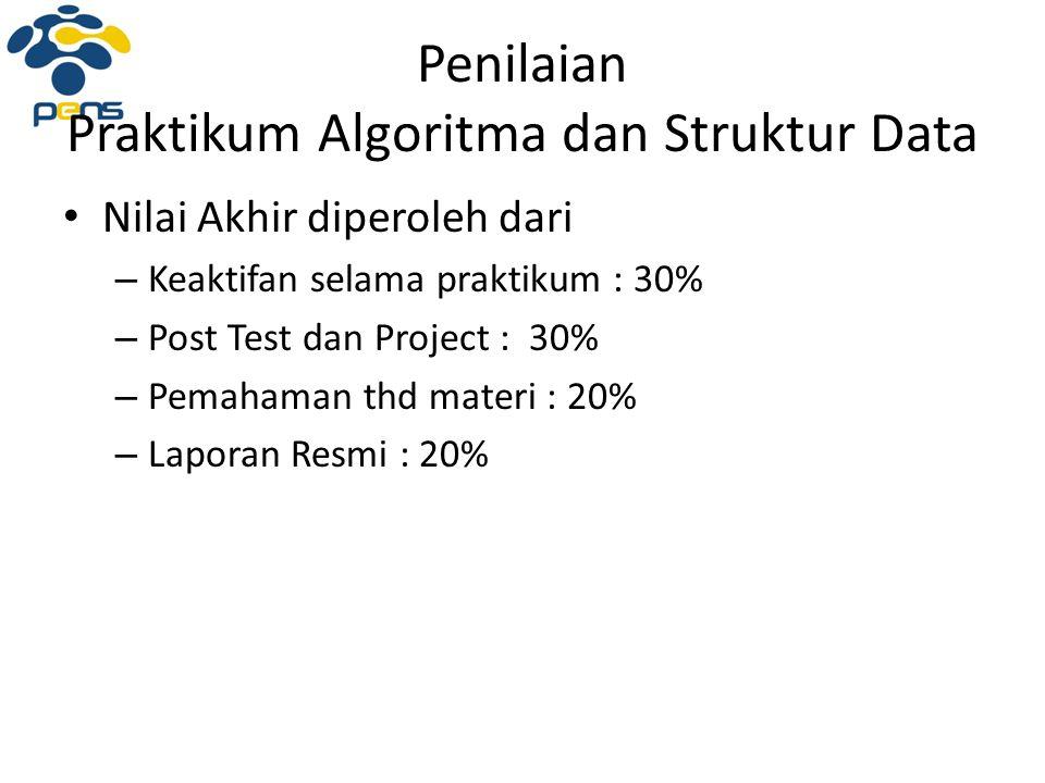 Penilaian Praktikum Algoritma dan Struktur Data