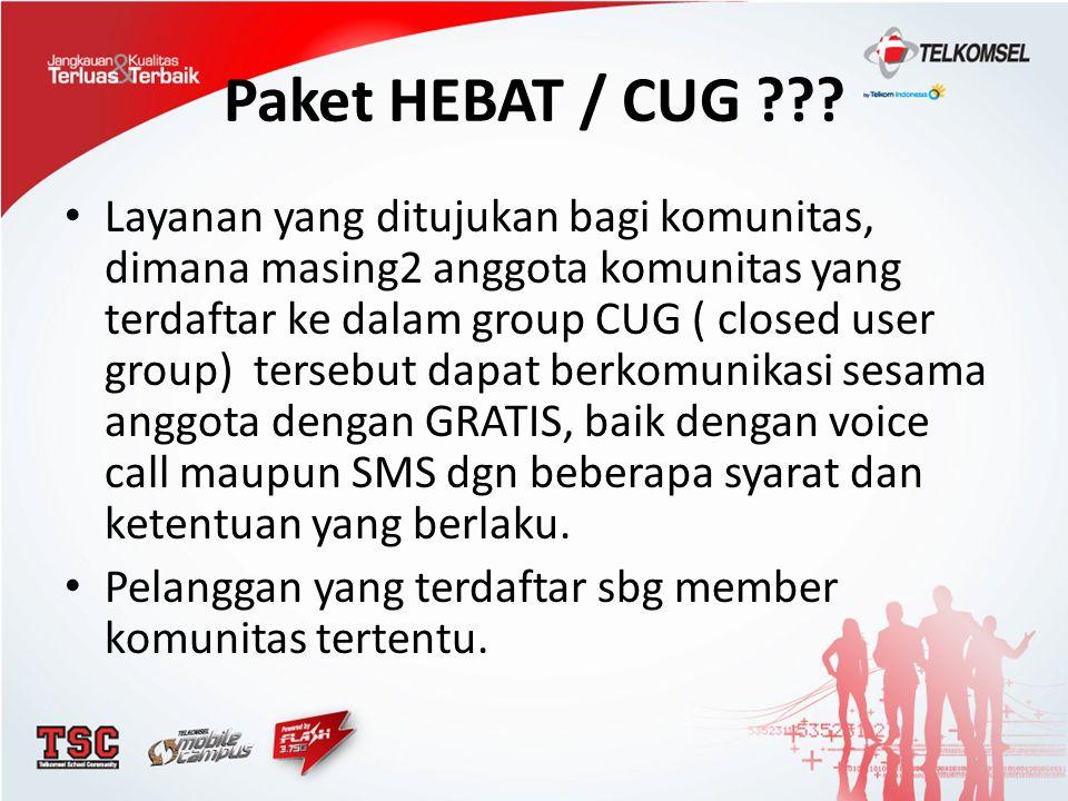 Paket HEBAT / CUG