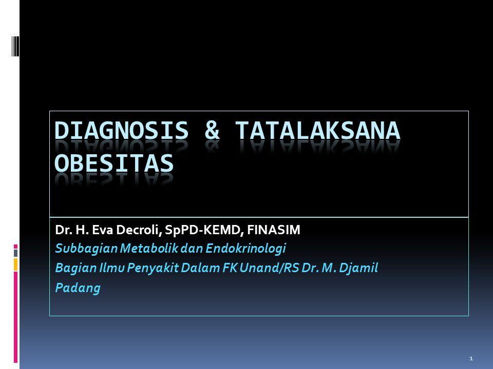 Diagnosis & Tatalaksana Obesitas