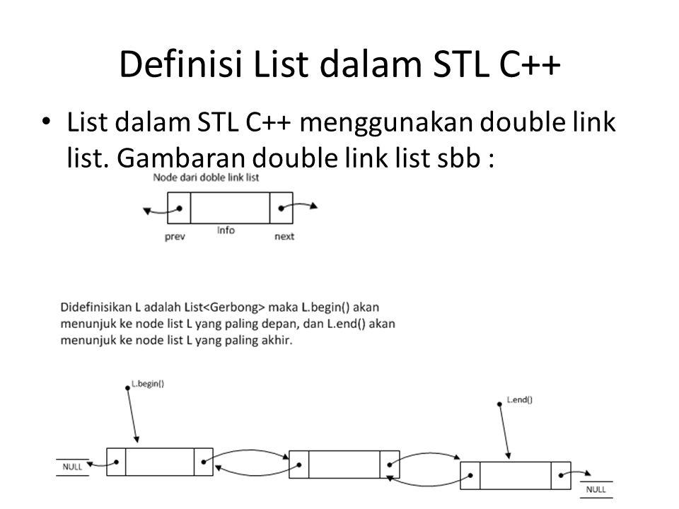 Definisi List dalam STL C++