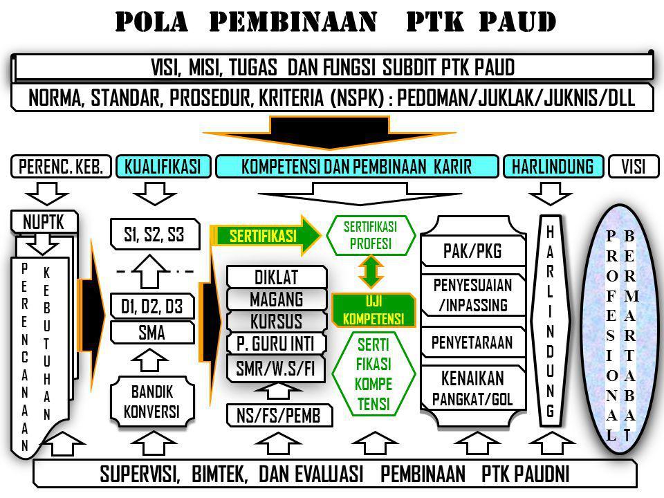 pola pembinaan PTK PAUD
