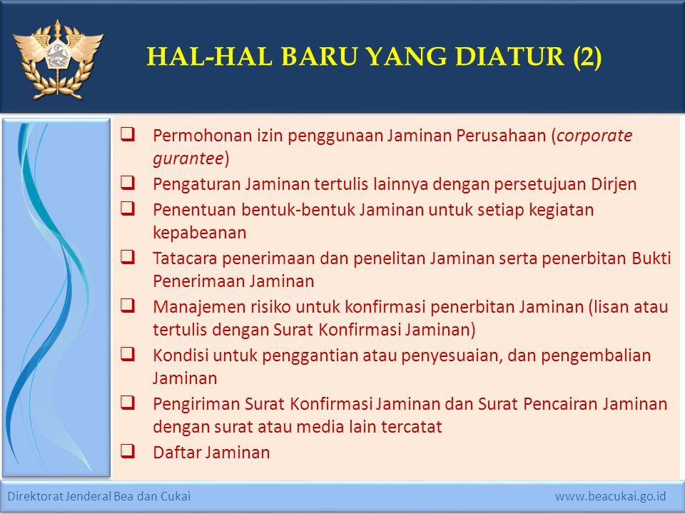 HAL-HAL BARU YANG DIATUR (2)
