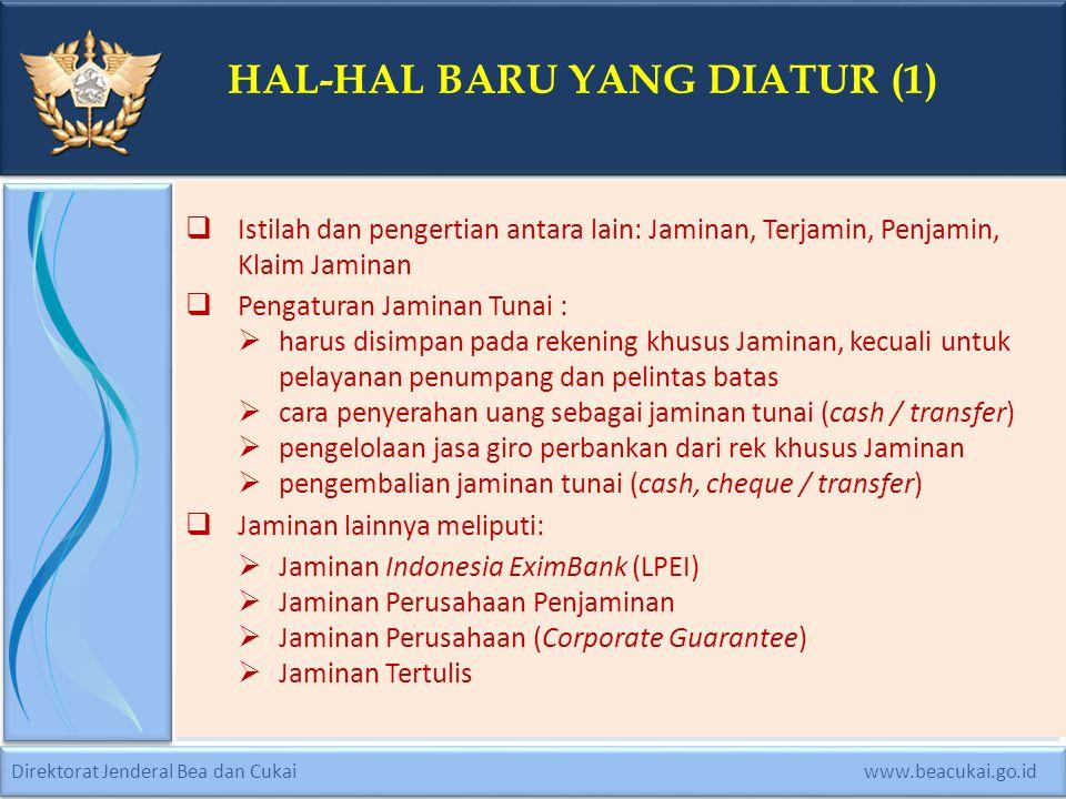 HAL-HAL BARU YANG DIATUR (1)