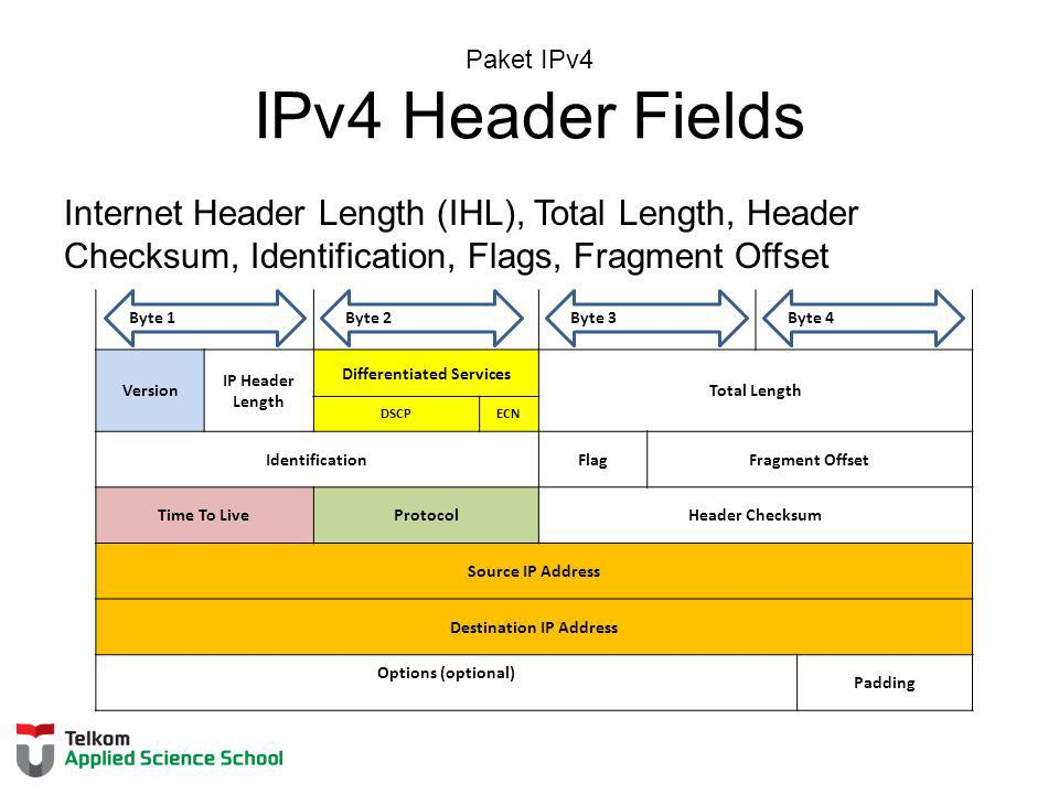 Paket IPv4 IPv4 Header Fields