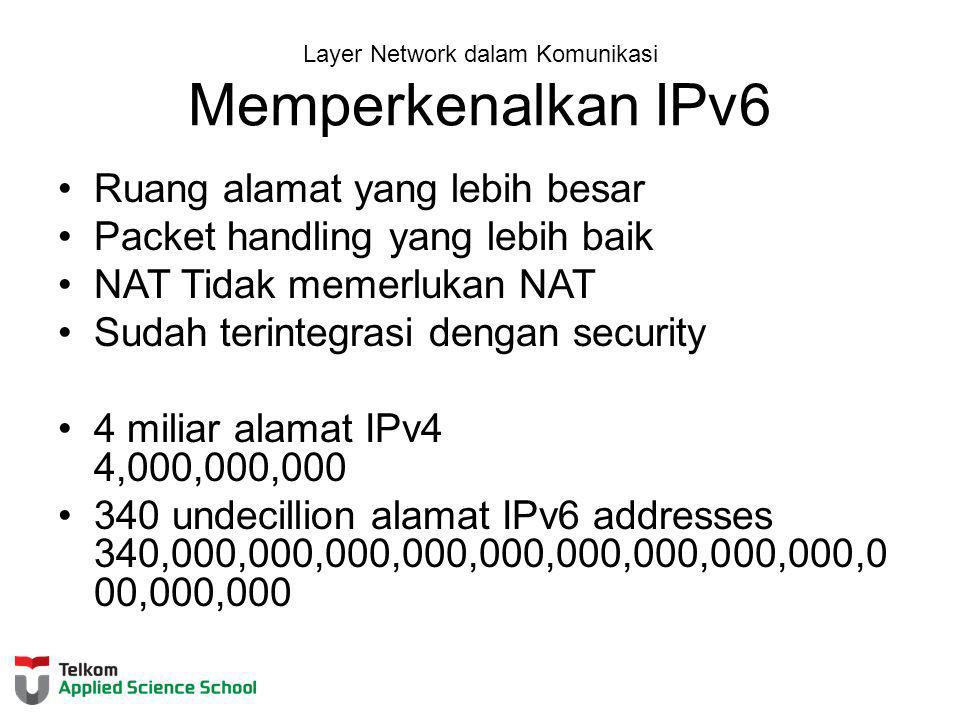 Layer Network dalam Komunikasi Memperkenalkan IPv6