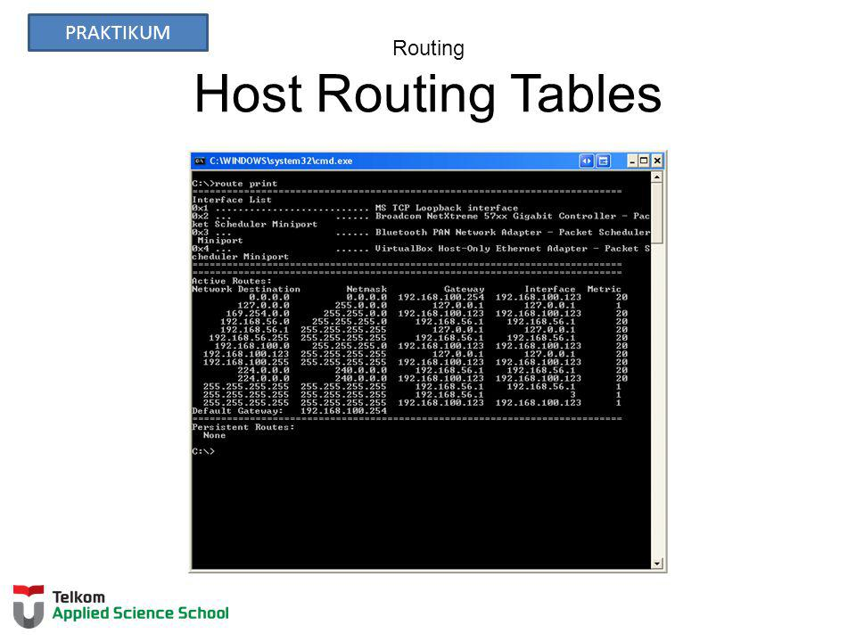 Routing Host Routing Tables