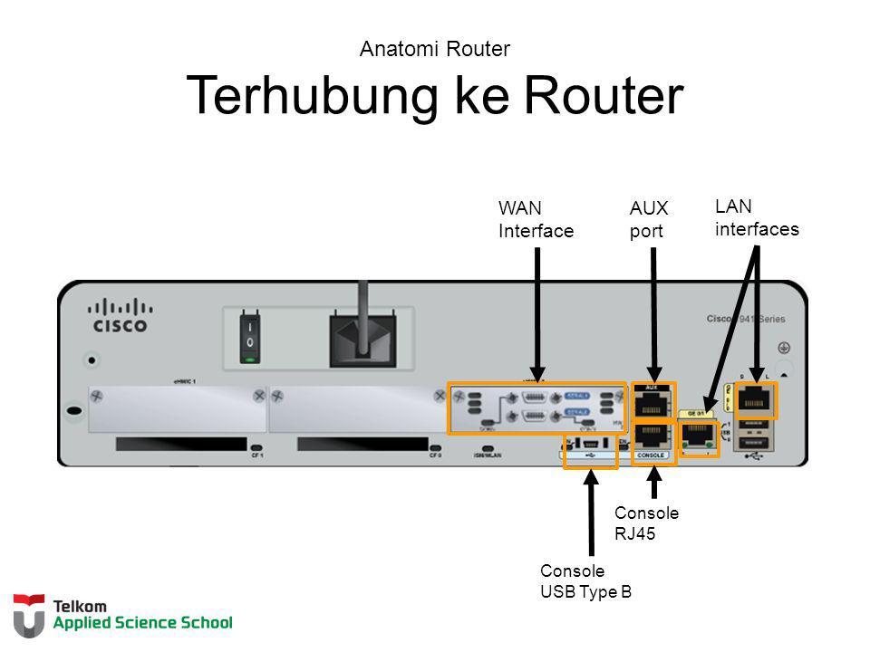 Anatomi Router Terhubung ke Router