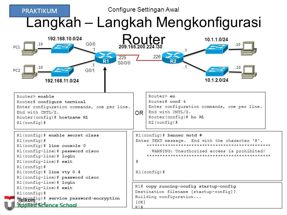 Configure Settingan Awal Langkah – Langkah Mengkonfigurasi Router