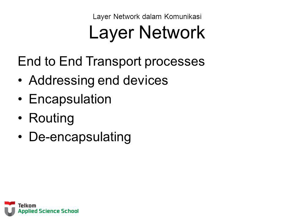 Layer Network dalam Komunikasi Layer Network