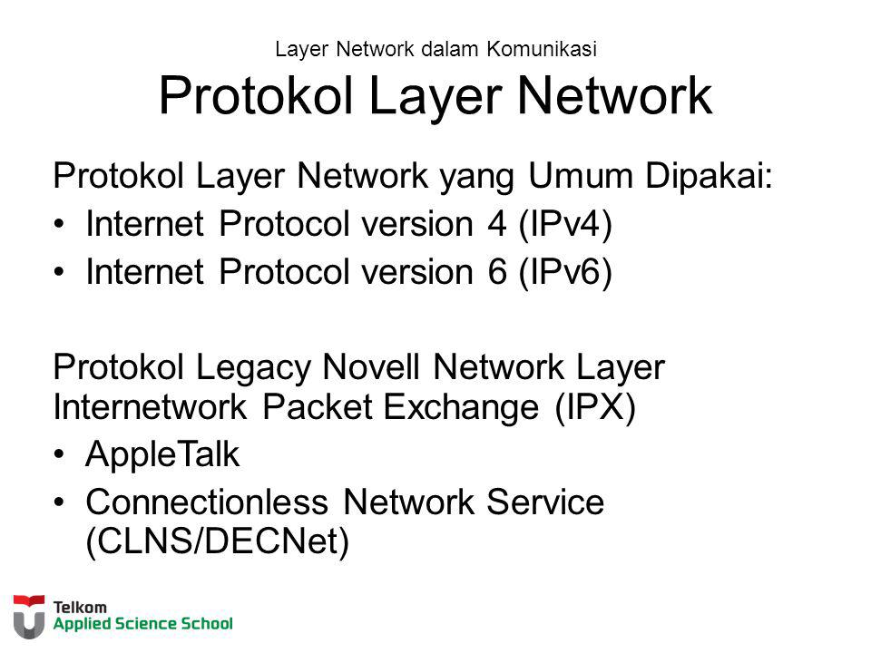 Layer Network dalam Komunikasi Protokol Layer Network