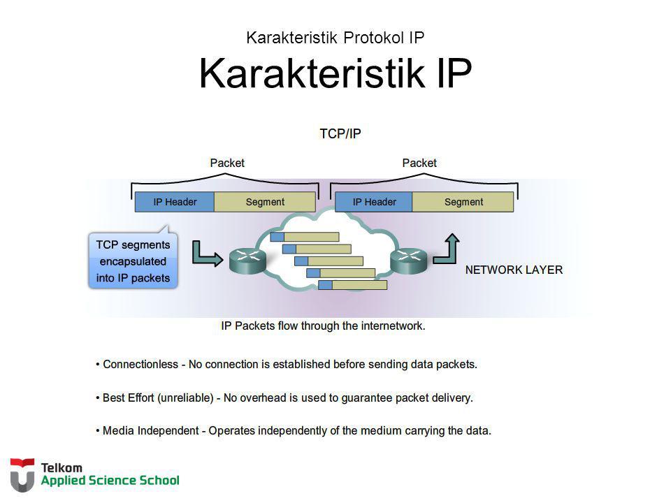 Karakteristik Protokol IP Karakteristik IP