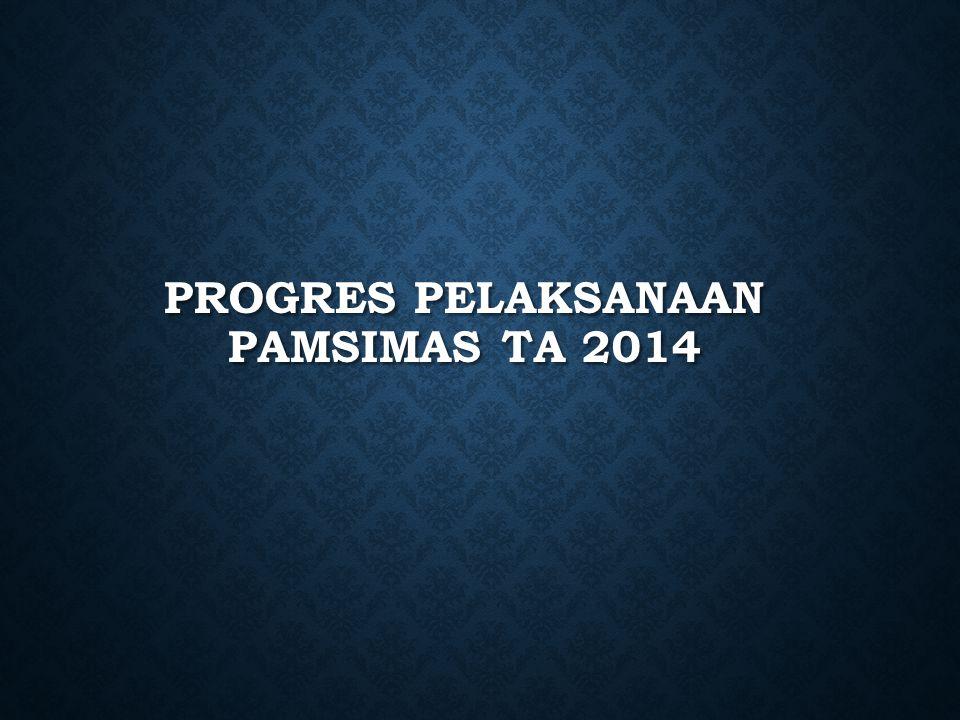 Progres pelaksanaan Pamsimas TA 2014