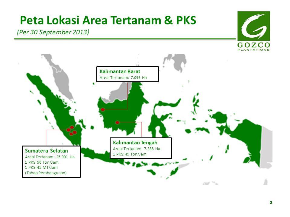 Peta Lokasi Area Tertanam & PKS