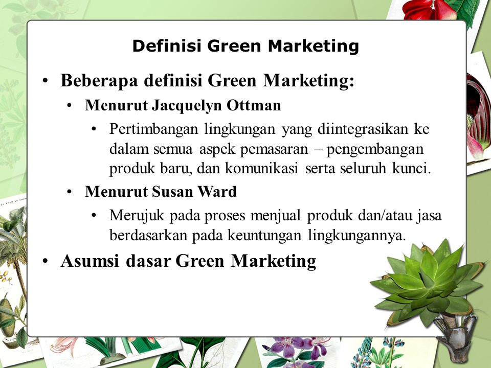 Definisi Green Marketing