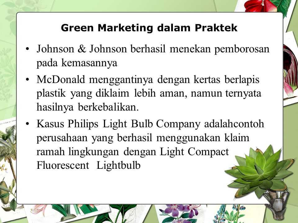 Green Marketing dalam Praktek