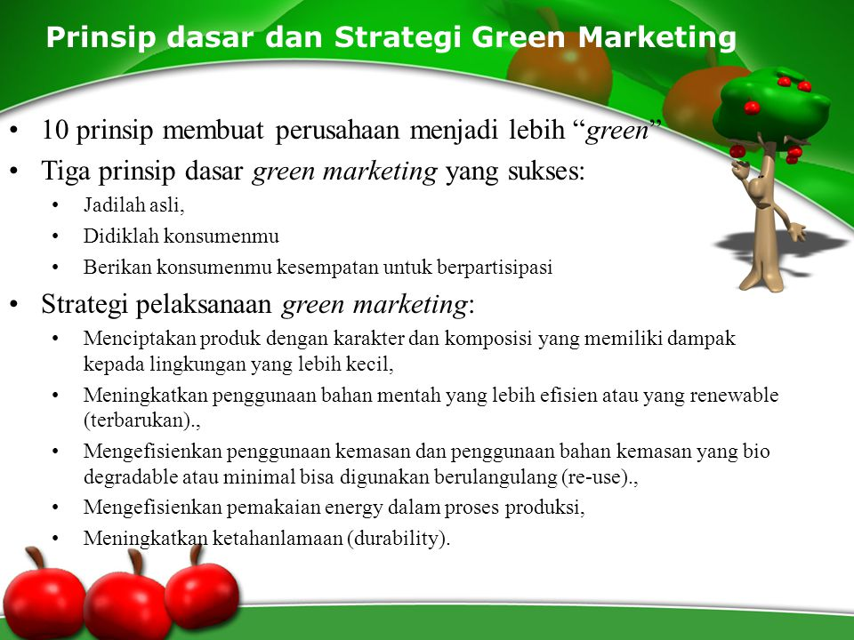 Prinsip dasar dan Strategi Green Marketing