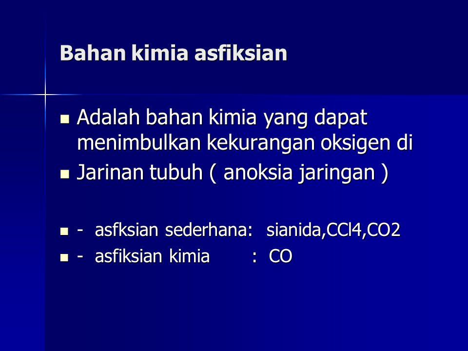 Adalah bahan kimia yang dapat menimbulkan kekurangan oksigen di