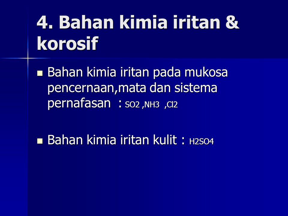 4. Bahan kimia iritan & korosif