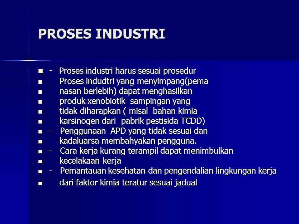 PROSES INDUSTRI - Proses industri harus sesuai prosedur