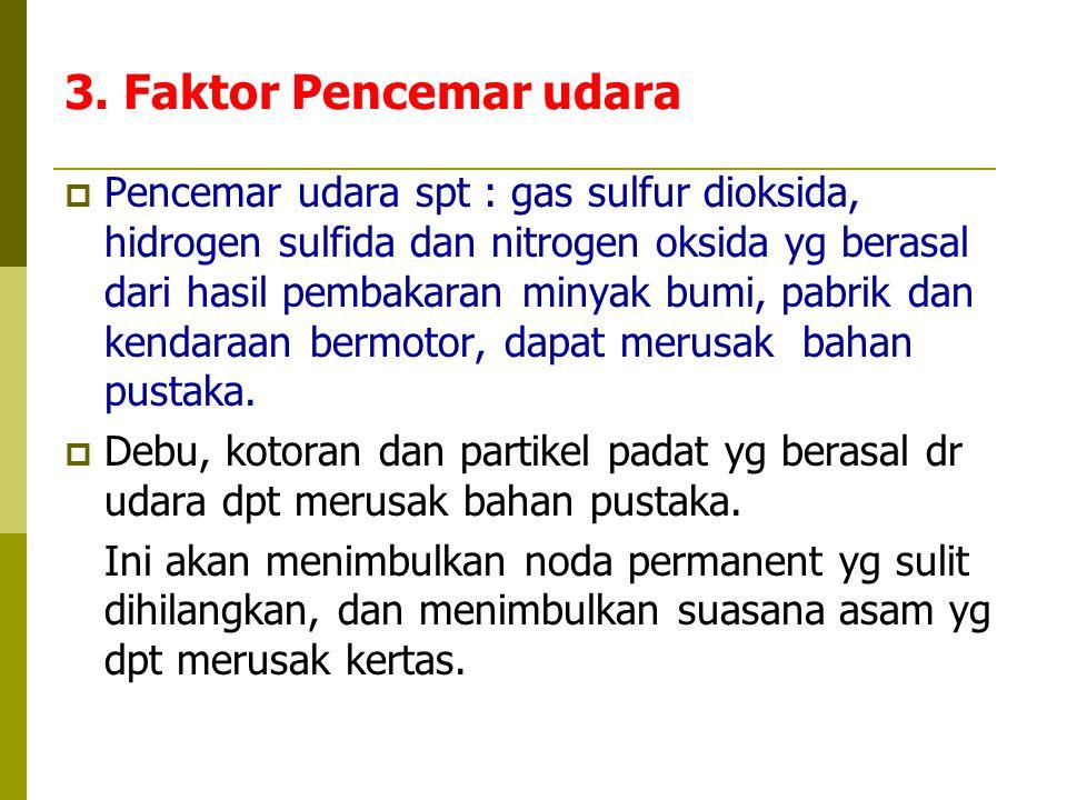 3. Faktor Pencemar udara