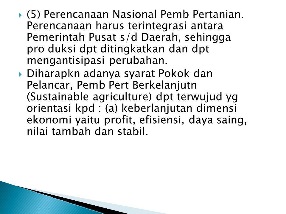(5) Perencanaan Nasional Pemb Pertanian