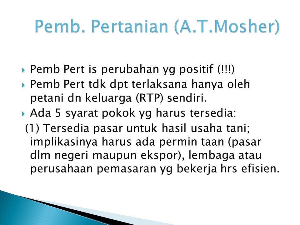 Pemb. Pertanian (A.T.Mosher)