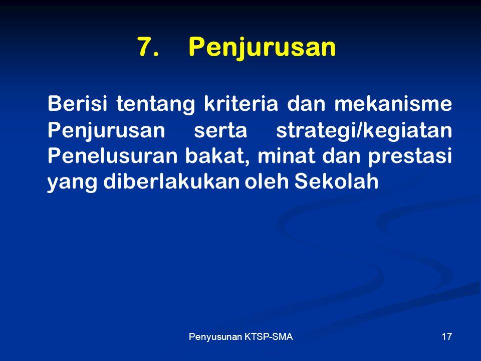 7. Penjurusan